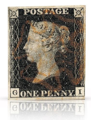 Verdens første frimerke fra Storbritannia utgitt 1. mai 1840