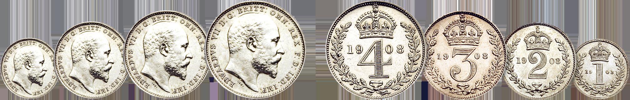 Skjærtorsdagmyntene Edward VII 1908