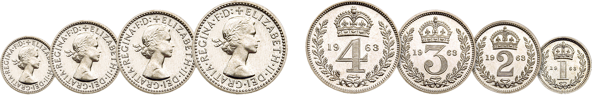 Skjærtorsdagmyntene, Elizabeth II, 1963