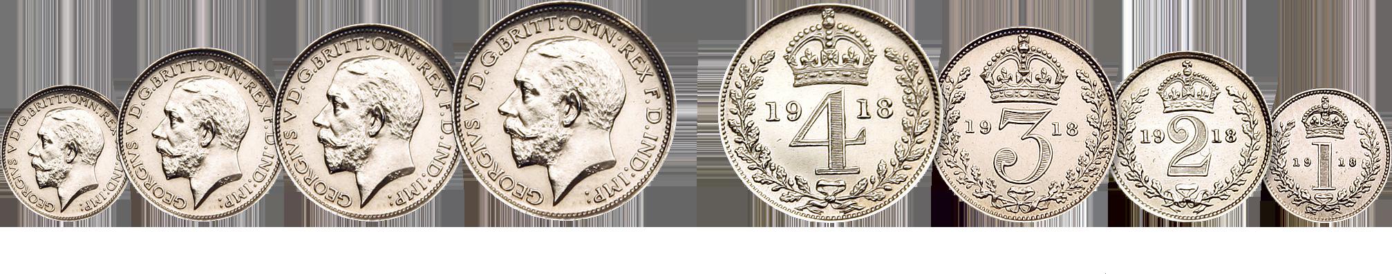 Skjærtorsdagmynt Kong George V 1918
