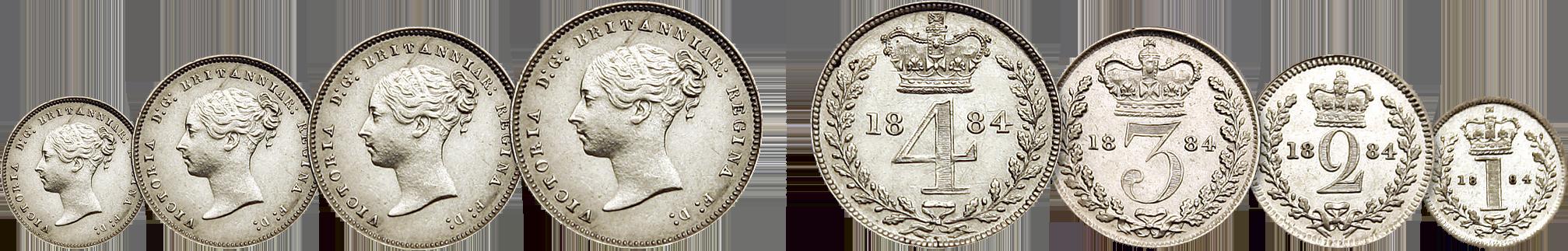 Skjærtorsdagmynter, Dronning Victoria 1884
