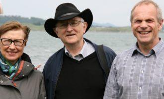 Sammen om å søke i Hafrsfjord - Målfrid Snørteland, Jærmuseet, professor Torgrim Titlestad, Sigbjørn Daasvatn, Funn i Hafrsfjord