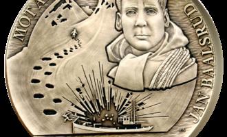 Jan Balsrud krigsminnemedalje i massiv bronsje
