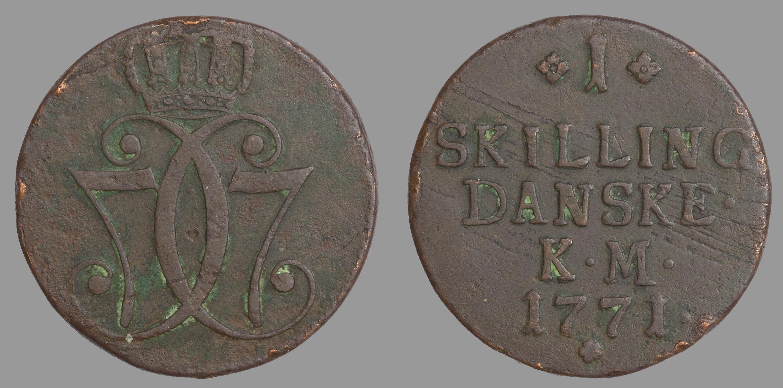 Christian VII. 1 Skilling 1771