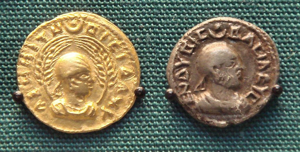 kjent fra mynter, Kongedømmet Aksum afrikansk rike handelssenrum gullmynt