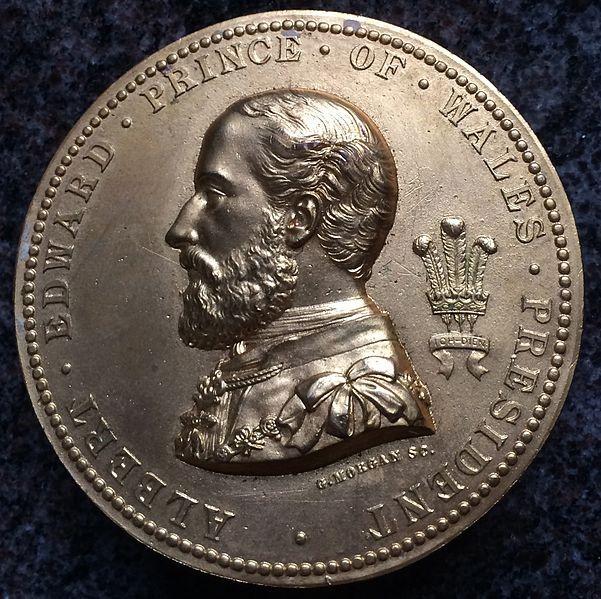 Medalje av Albert Edward Prince of Wales laget av Morgan. Kort tid etter ble Morgan-dollaren laget.