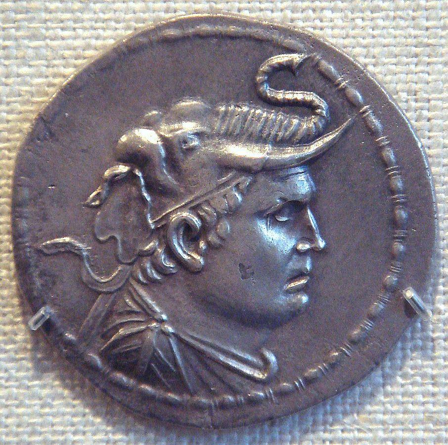 kjent fra mynter elefanthjelm demetrius I indo-gresk