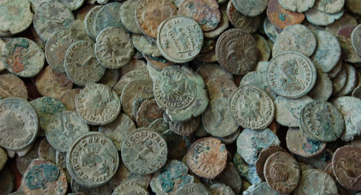 Frome skatt myntsamling romerske mynter