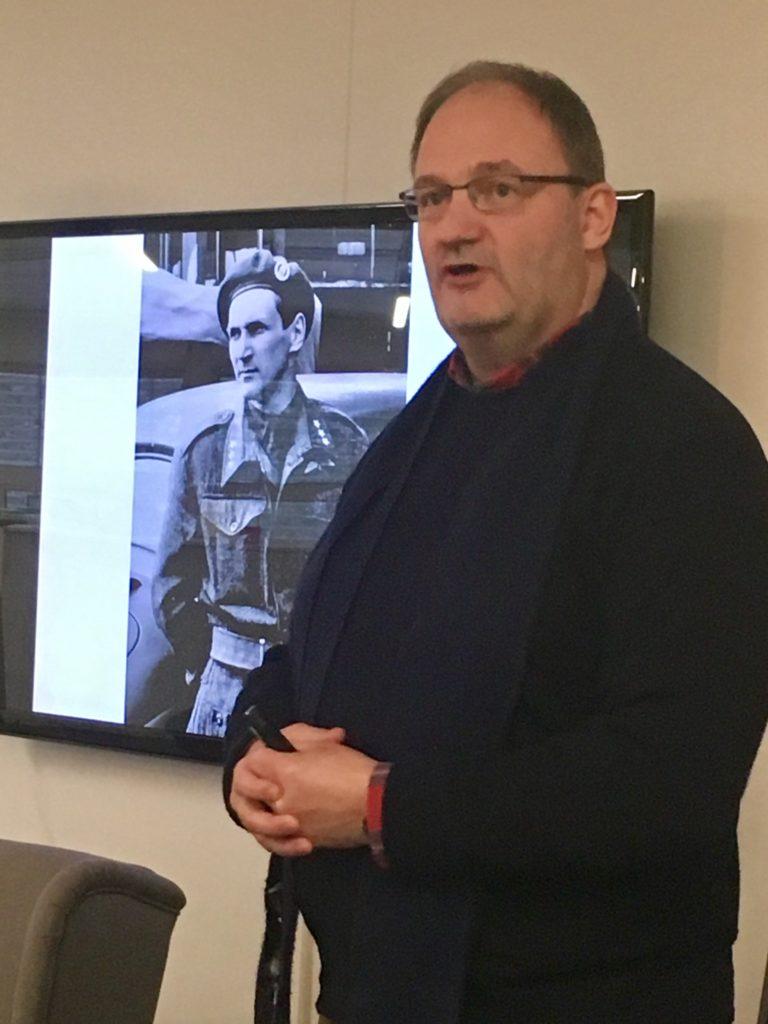 Petter Ringen snakker om Gunnar Sønsteby