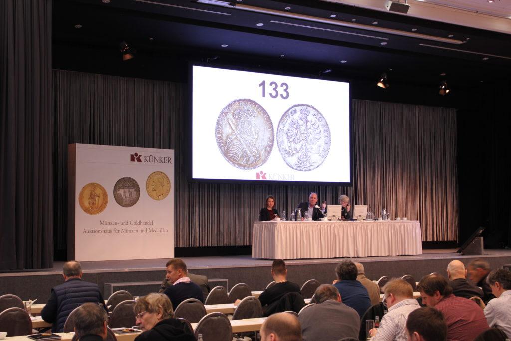 Auksjon, mynt Frederik den store thaler