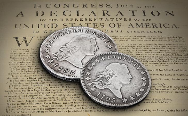 Den første sølvdollar - Flowing hair