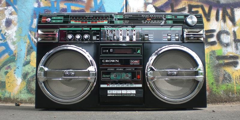 boombox ghettoblaster kassettspiller graffiti tagging
