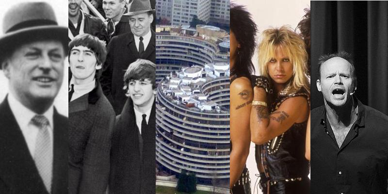 Samlerhuset, Olav V, George Harrison, Ringo Starr, Watergate-komplekset, Mötley Crüe og Harald Eia