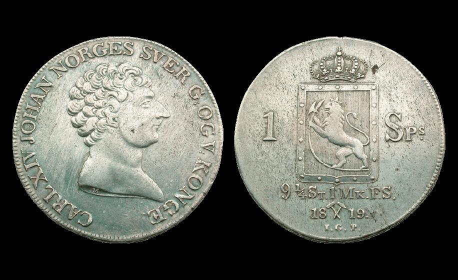 Karl Johan speciedaler preget kort tid etter sølvskatten