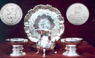Sølvskatten minnemynt 5 kroner sølvtøy