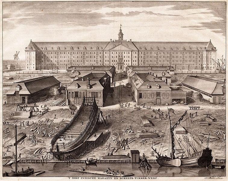 Skipsbygging på 1700-tallet.