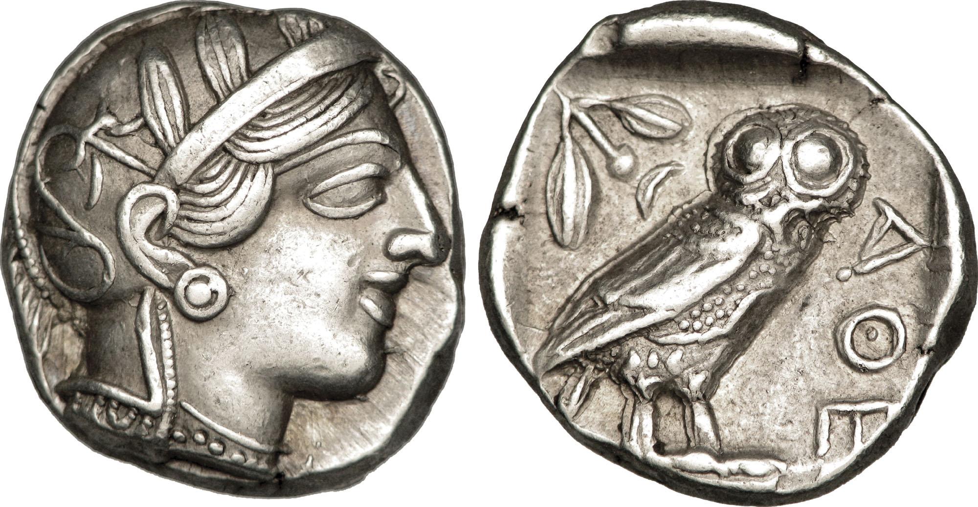 Greske guder på mynter: Athene er nok den som er avbilet på den mest kjente mynten