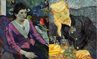 Gaugin og van Gogh malte begge med pastellfarger, og særlig sistnevnte hadde ofte bilder av mennesker med hypnotiserende blikk.
