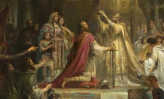 Europas historie på 10 spørsmål. Hvem ble kronet til Det tysk-romerske rikets første keiser i år 800?
