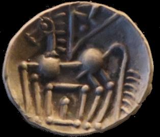 Keltiske mynter: Her en kreativ pegasus