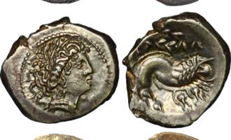 Keltiske mynter som kopierer greske - med vekslende hell