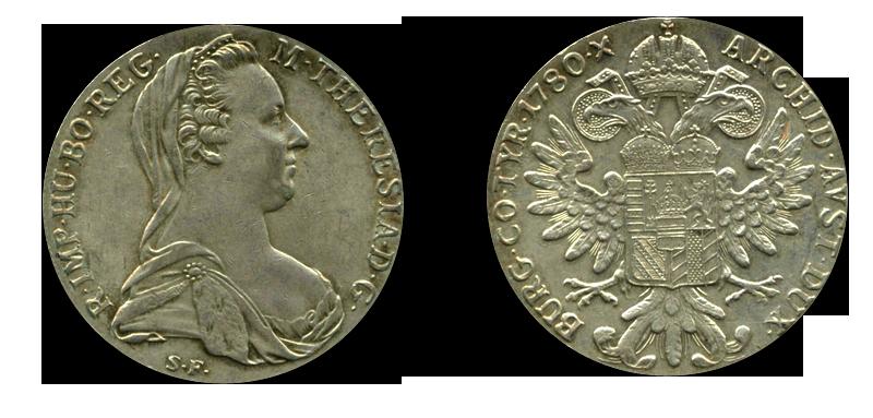 Handelsmynter med varig verdi: Maria Theresa-daleren var svært populær i Asia.