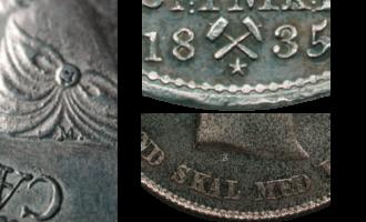 Verdi på mynt kan stige markant om de har gravørmerker
