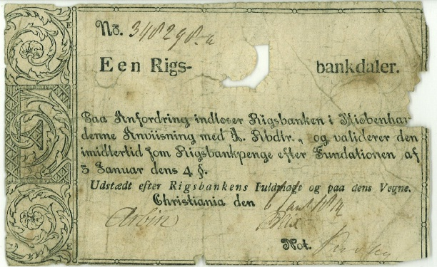 Norske sedler hadde en tøff start.