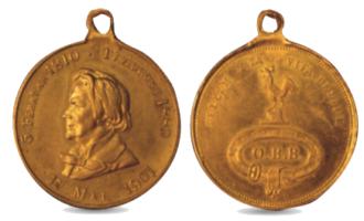17. mai-medalje med Ole Bull