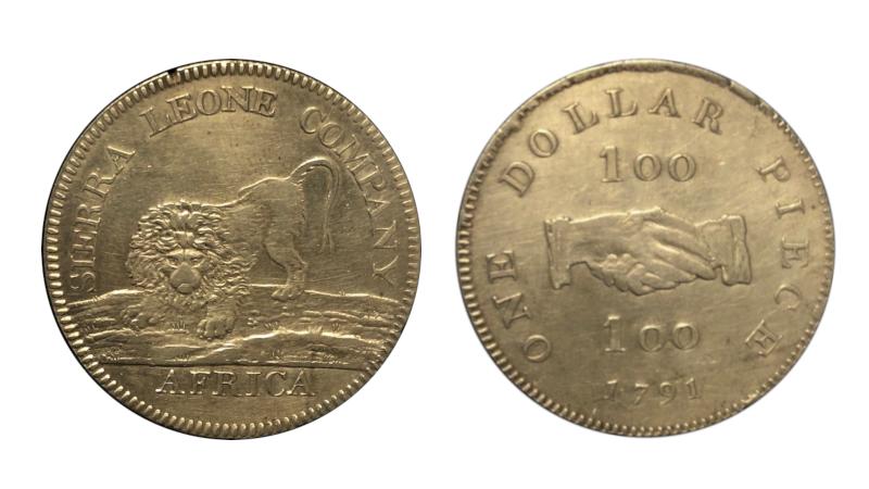 Sierra Leone Company dollar, kanskje verdens første dollar noensinne
