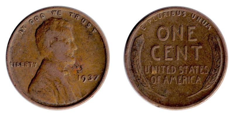 1 cent-mynten skulle ha det nye motivet i 1959, men visstnok finnes det en med det gamle hvete-motivet.