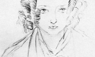 Dronning Victorias selvportrett fra 1835, to år før kroningen