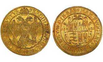 Verdens rikeste, eller nest rikeste, historiske person fikk mynter preget i sitt navn