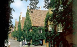 Nabolaget i Augsburg med Fuggers hus står fortsatt