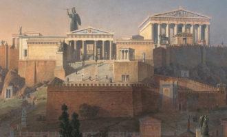Greske guder er ofte på antikke mynter. Her fra Athen, som naturligvis hadde mye med gudinnen Athene å gjøre.