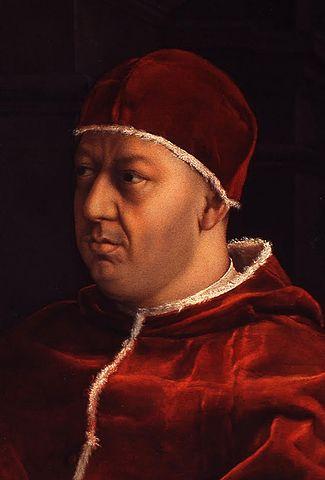 Leo X brukte for mange penger på seg selv og på byen