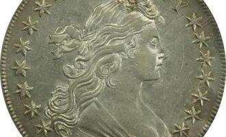 sølvdollar med utringning: Draped Bust