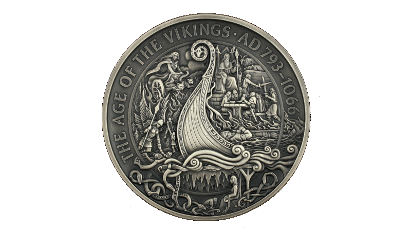 Vikingtiden og livet etter døden. Valkyrier, Frøya, Odin, einherjere, et brennende vikingskip og Hel