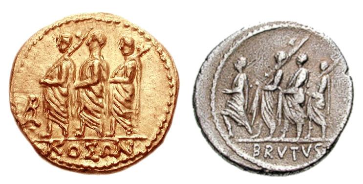 KOSON og Brutus-mynt