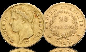 Napoleon med krans og keiserrike