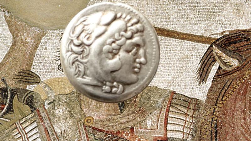 Aleksander den store - skal mynten forestille ham?