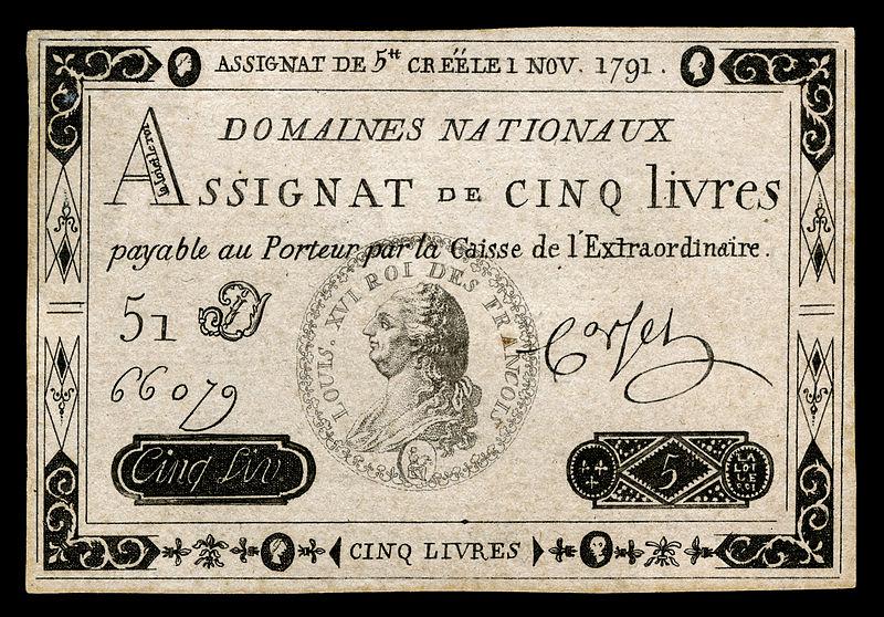 Den franske revolusjonen løste pengeproblemer med obligasjoner