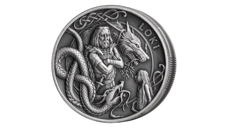 Loke på ny mynt fra Isle of Man