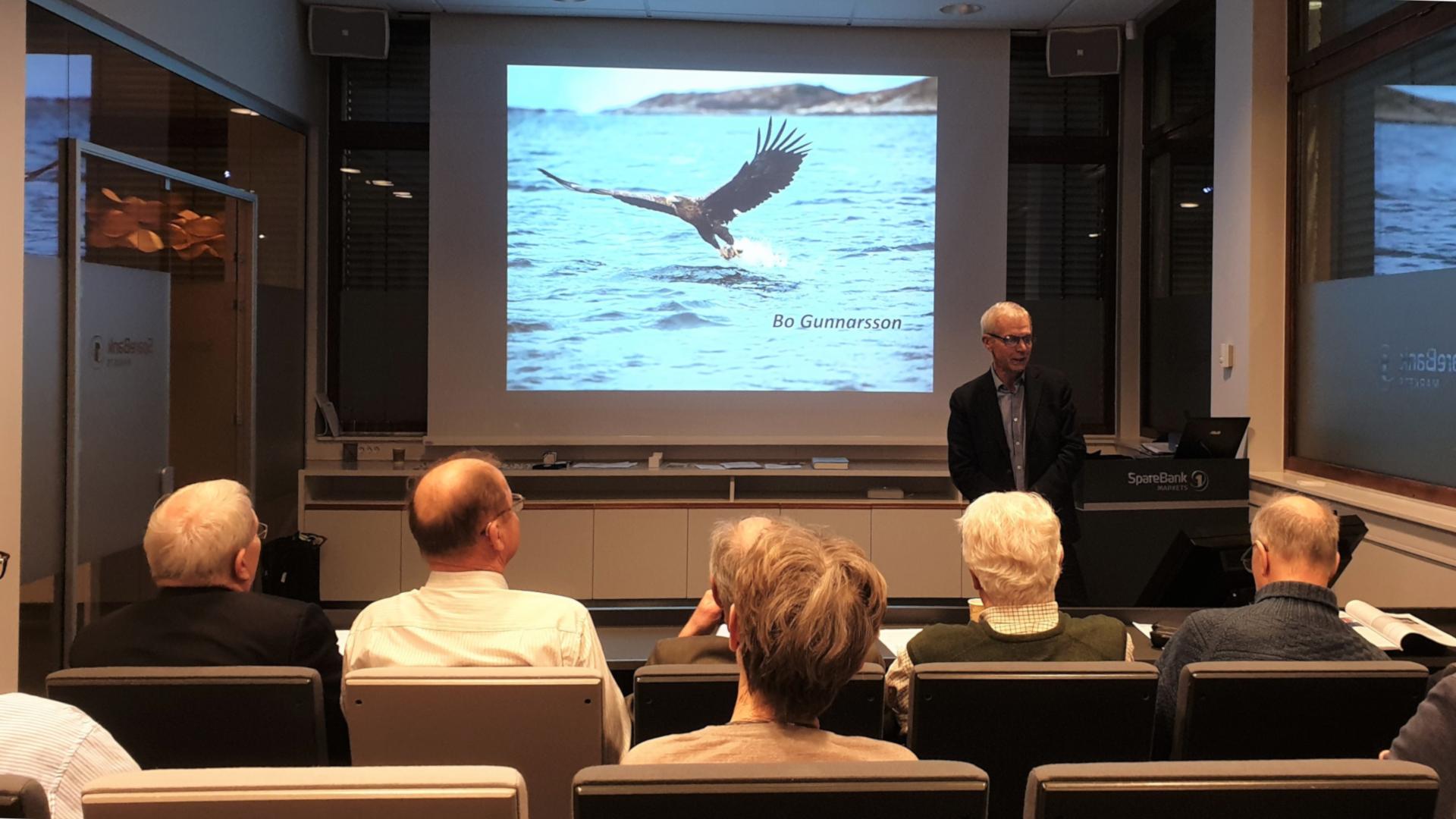 Bo Gunnarsson holdt et glimrende foredrag om myntsamling i Oslo