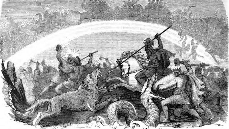 Ragnarok skissert på tidlig 1900-tall