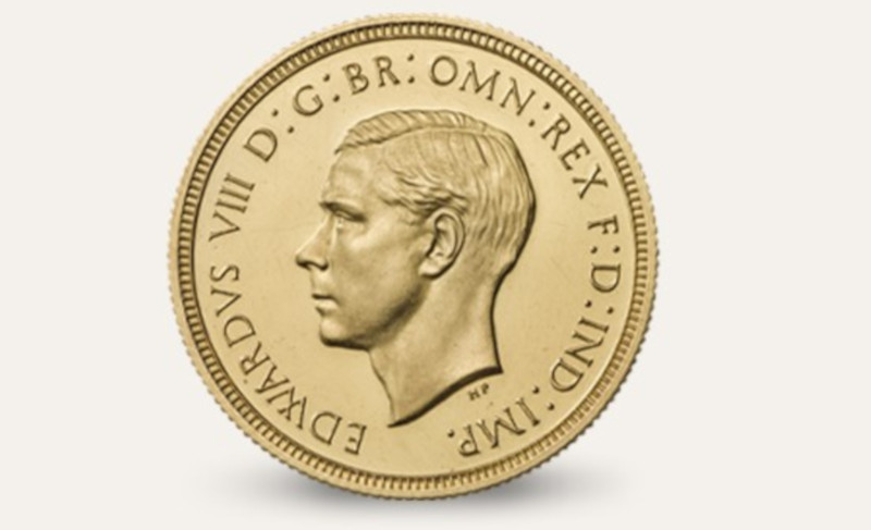 Royal Mint Edward VIII sovereign