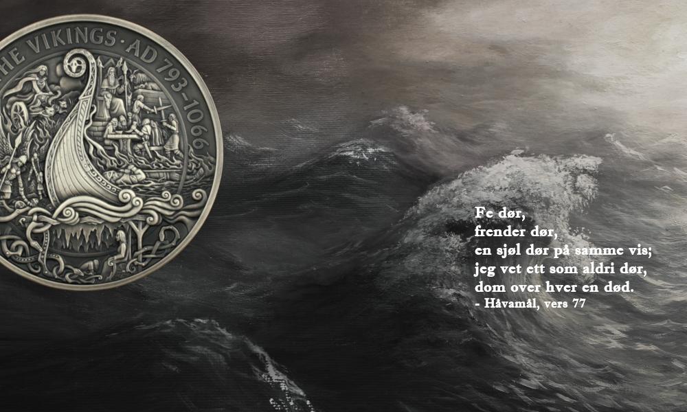 Jannicke Wiese-Hansen står bak myntene som er del av vikingøya Isle of Mans myntserie om vikinger