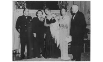 Kronprins Olav, dronningen av Nederland, Eleanor Roosevelt og kronprinsesse Märtha