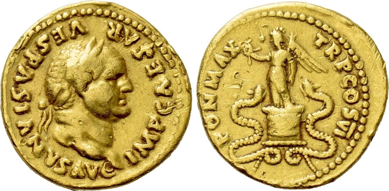 aureus av Vespasian