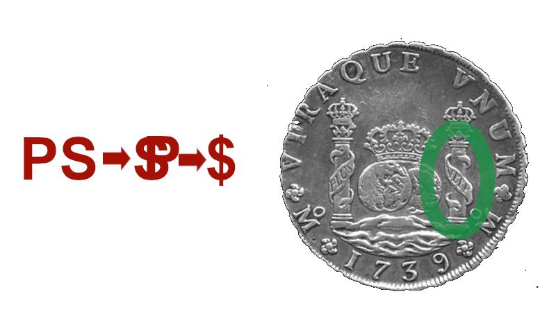 Amerikanske dollar har tegnet $, og grunnen er noe uklar.